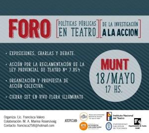 Flyer FORO Teatro 2018